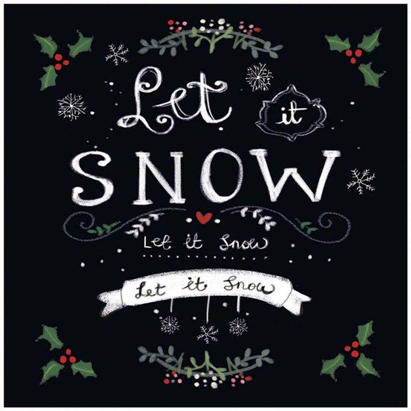 Ambiente Serviette Let it snow 33x33cm 20 Stück