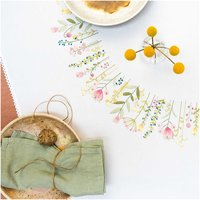 Rico Design Stickpackung Decke Frühlingskranz 95x95cm