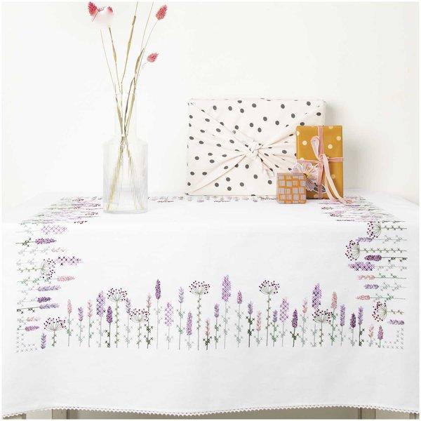 Rico Design Stickpackung Decke Lavendelfeld 95x95cm