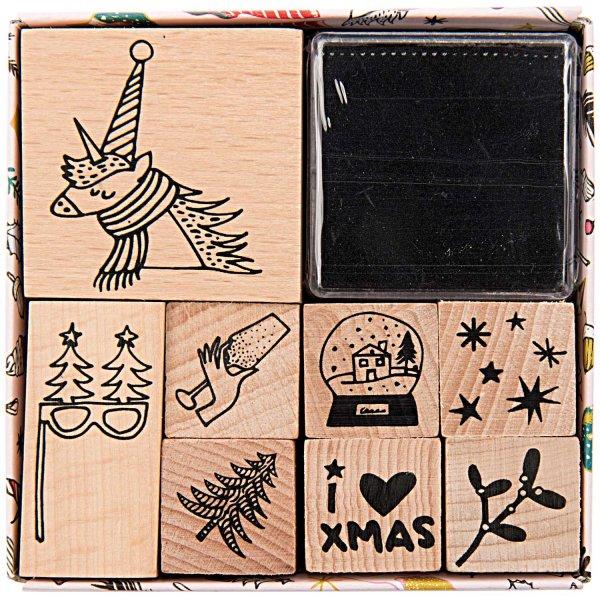 Paper Poetry Stempelset Magical Christmas 8 Stempel incl. Kissen