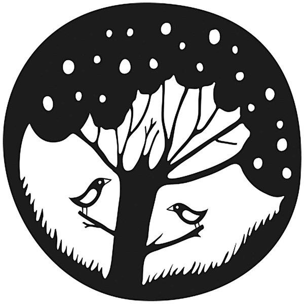 Rico Design Stempel rund Baum mit Vogel 3,5cm