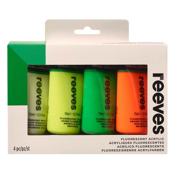 reeves Acryl Fluo Set 1, 4x75ml