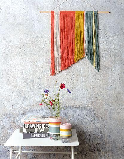 Anleitung Wandbehang Aus Wolle Basteln