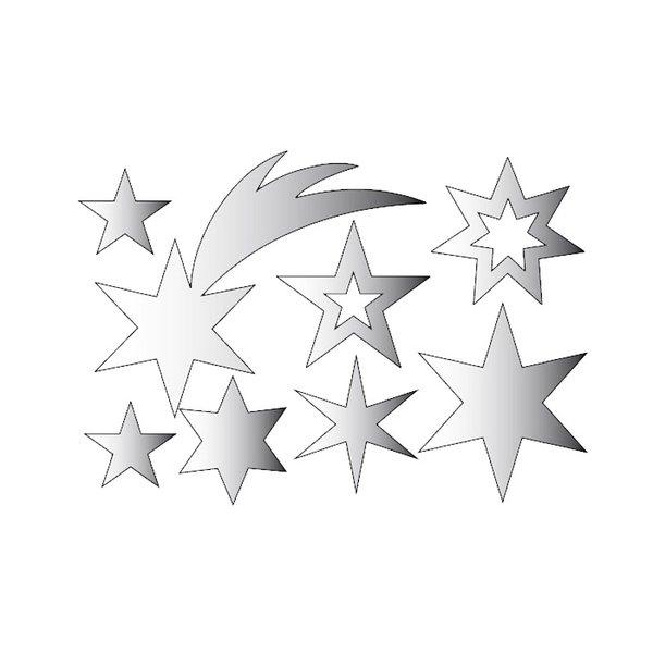 Rico Design Spiegel-Anhänger X-MAS silber 8 Stück