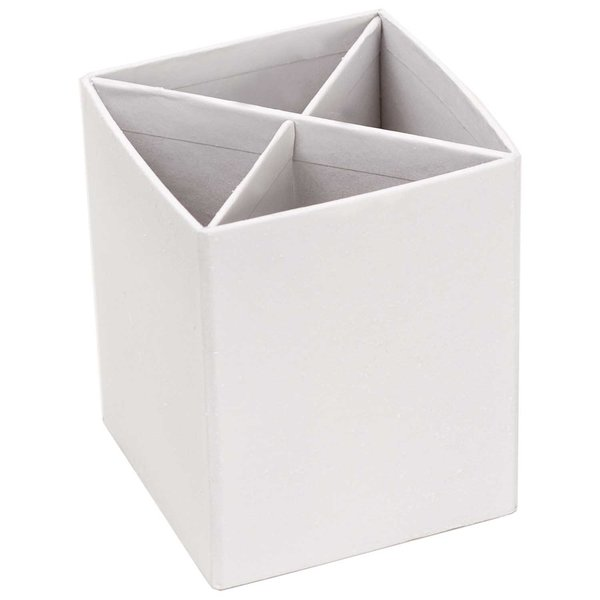 Rico Design Stiftebox weiß 8x8x10cm
