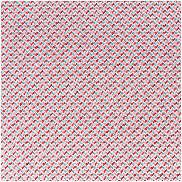 Rico Design Stoff Zickzack hellblau-rosa 50x140cm