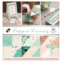 DECOHOBBY Scrapbooking Block Copper Luxury 30,5x30,5cm 36 Blatt