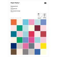 Paper Poetry Bastelkartonblock Super Colour A4 300g/m² 30 Blatt