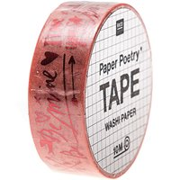Paper Poetry Tape It must be love Schriftzüge 1,5cm 10m