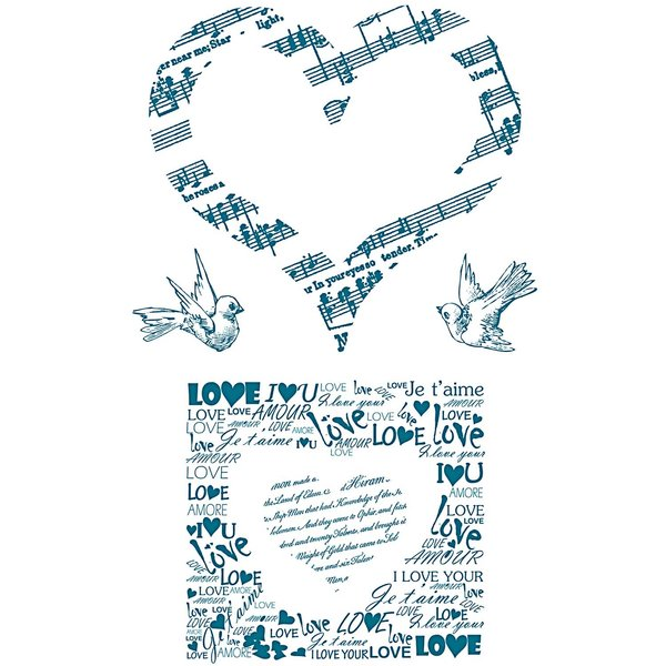 Paper Poetry Silikonstempel Liebe 5 Motive