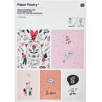Paper Poetry Postkartenblock It must be love 15 Karten