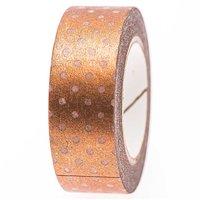 Rico Design Tape weiß-kupfer Punkte 15mm 10m