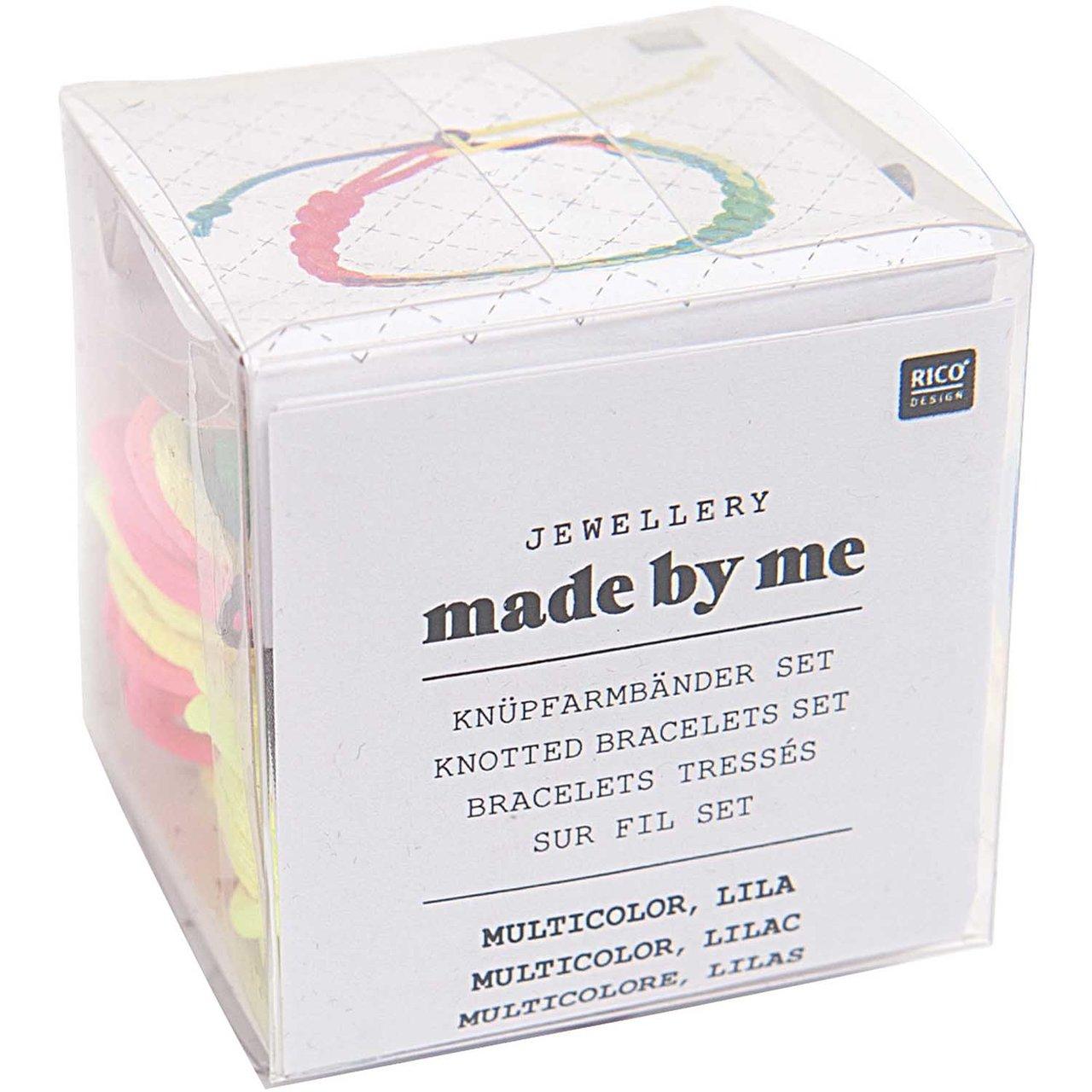Rico Design Knüpfarmbänder Set mehrfarbig-lila ...
