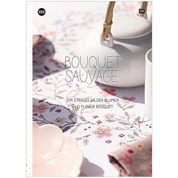 Rico Design Stickbuch Nr.158 Bouquet Sauvage