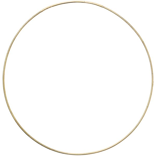 Jewellery Made by Me Collier mit Steckverschluss gold 14,5cm