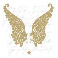 Ambiente Serviette Wings gold 33x33cm 20 Stück