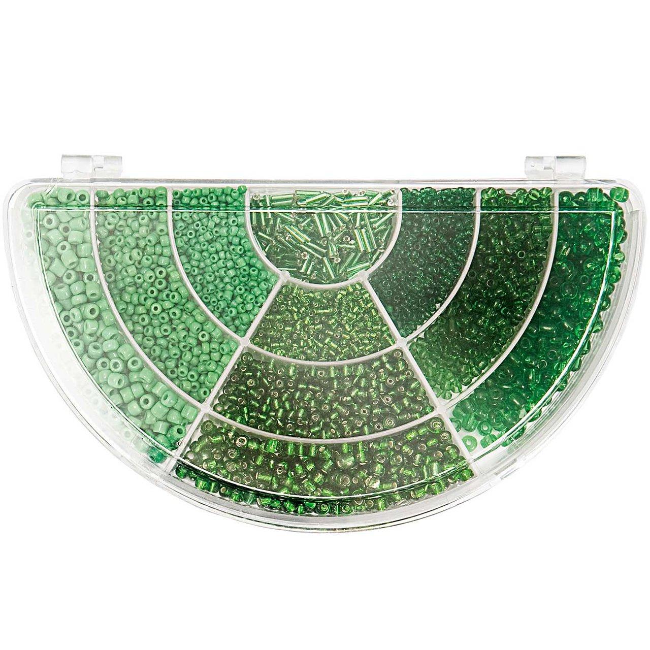Rico Design Rocaillesset grün Mix 239g