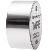 Paper Poetry Mirror Metallic Tape silber 19mm 3,5m