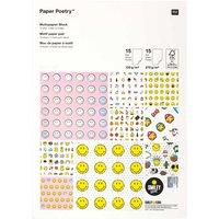 Paper Poetry Motivpapier Block Smiley 21x29,5cm 30 Blatt