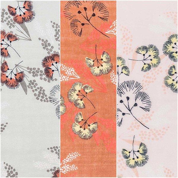 Rico Design Musselin-Druckstoff Jardin Japonais Blumen 140cm