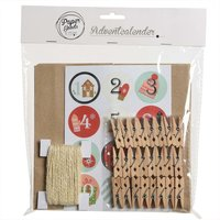Adventskalender-Set Papier rot 22x23cm