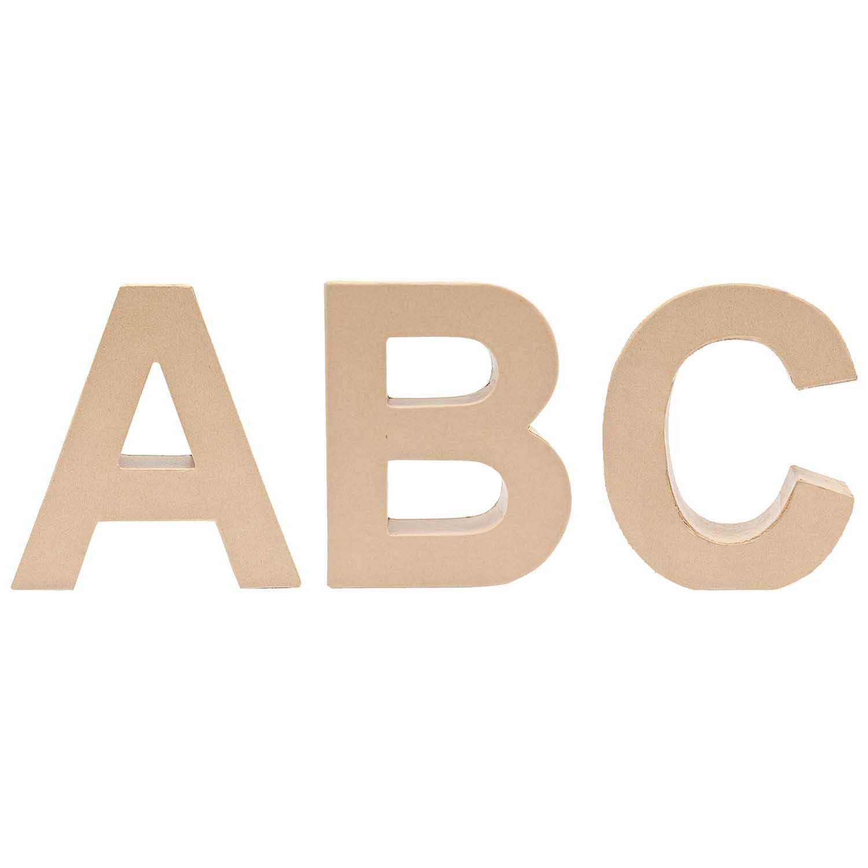 Buchstaben & Zahlen aus Pappe zum Basteln: Pappbuchstaben ...