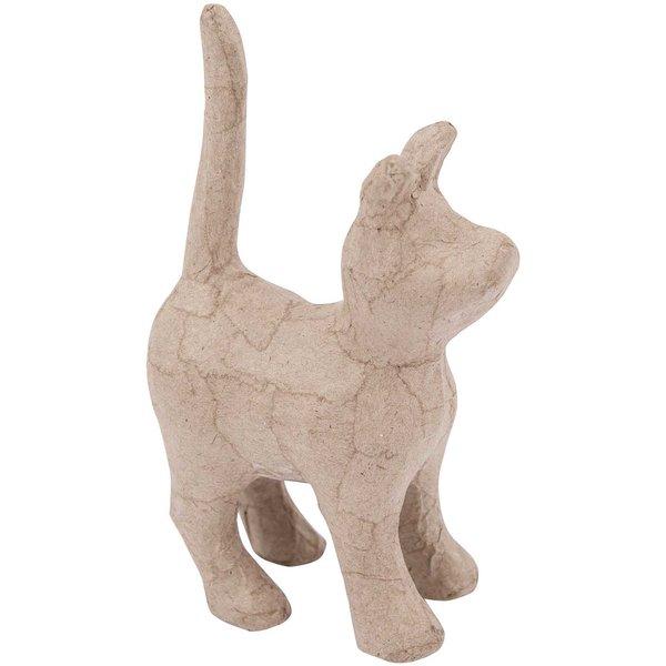 Rico Design Pappmaché Katze stehend 8,5x14x4,3cm