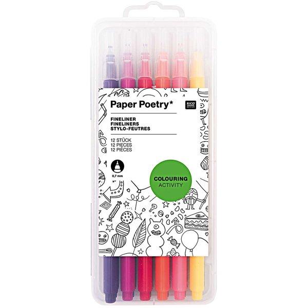 Paper Poetry Fineliner 0,7mm 12 Stück