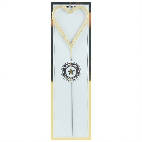 Wondercandle Wunderkerze Symbol Herz classic gold