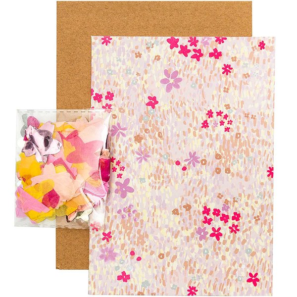Paper Poetry Grußkartenset Crafted Nature Blumenwiese rosa