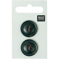 Rico Design Knopf schwarz 2,2cm 2 Stück