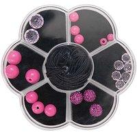 Rico Design Makramee-Glasschliffset pink 22teilig