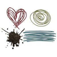 Sizzix Thinlits Die Set Scibbles & Splat