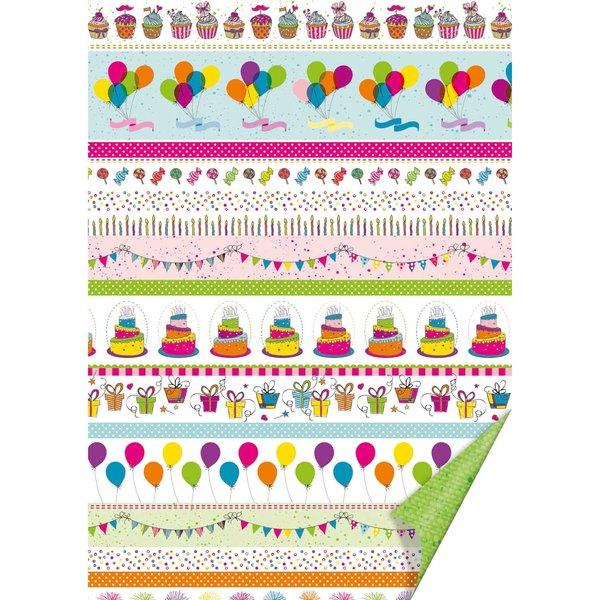 HEYDA Fotokarton Party Linien 50x70cm 300g/m²