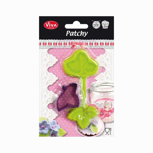 VIVA DECOR Patchy Erdbeerblatt mit Ausstanzer 12,8cm
