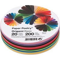 Paper Poetry Origami basic rund 15cm 200 Blatt 20 Farben
