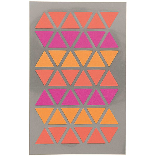 Paper Poetry OfficeSticker Dreiecke rot-orange-pink 4 Bogen