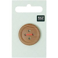 Rico Design Holzknopf 2,6cm mit Rand