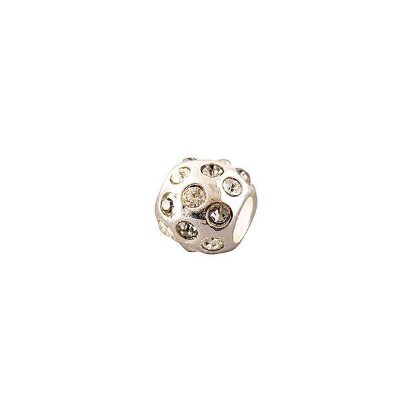 Rico Design Strasskugel weiß 0,9x0,8cm