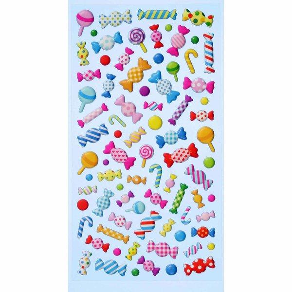 HobbyFun SoftySticker Bonbons mehrfarbig