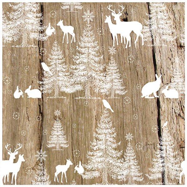Ambiente Serviette Wald 33x33cm 20 Stück
