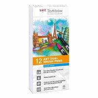 Tombow ABT Dual Brush Pen Primärfarben 12er Set