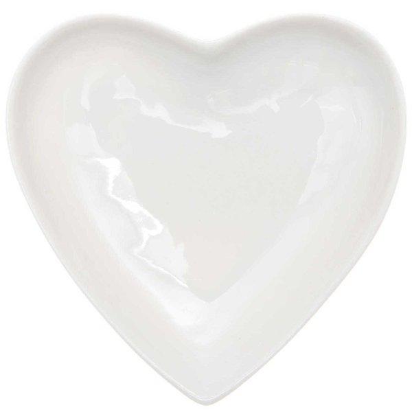 Ohhh! Lovely! Porzellanteller Herz weiß 10cm