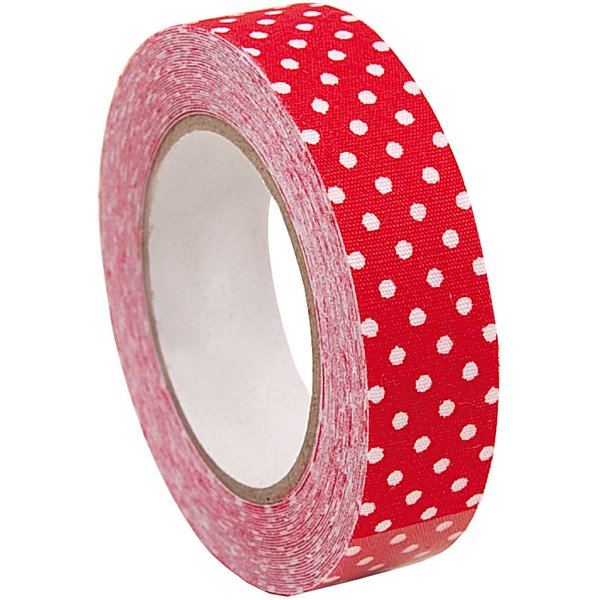 Rico Design Stofftape rot-weiße Punkte 5m selbstklebend
