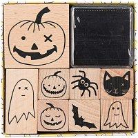 Paper Poetry Stempelset Halloween 8 Stempel incl. Kissen