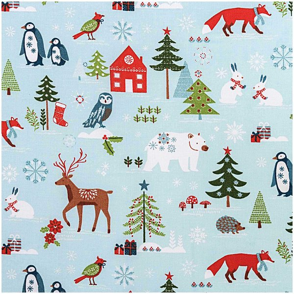 Rico Design Stoff Winterimpressionen mint 50x140cm