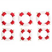 Rettungsringe rot 4-5cm 6 Stück