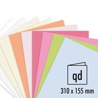 Artoz Doppelkarte Perga pastell 200g/m² 5 Stück quadratisch