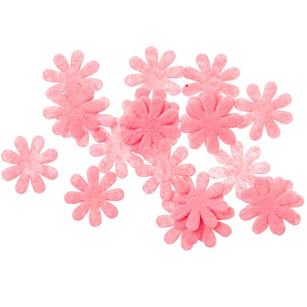 Blütenstreu rosa 3cm 25 Stück