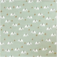 Rico Design Jerseystoff Baby Collection Elefant mint-gold 145cm